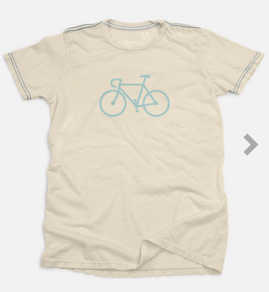 The Noun Project T-shirt with Bicycle